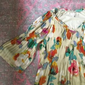 Spense watercolor bell sleeve dress size 20W